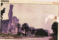 'Mogadishu Cathedral destroyed in the armed conflict' Photo: Mohamed A. Mohamed