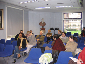The audience at the Cambridge presentation