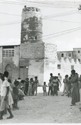 Minaret of Jami' Mosque (Photo: N. Chittick, Courtesy of BIEA)